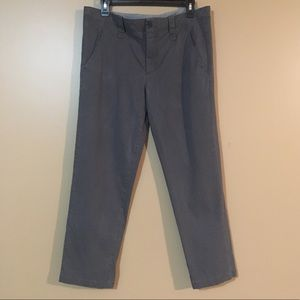 Vince Pants Ankle crop gray khakis pants size 10